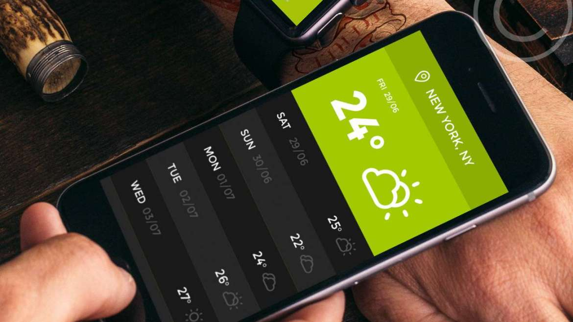 Green. Weather App and Organizer